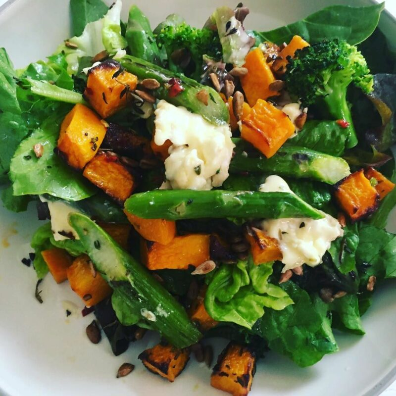 The 500 Calorie Kitchen Asparagus and Butternut Squash Salad
